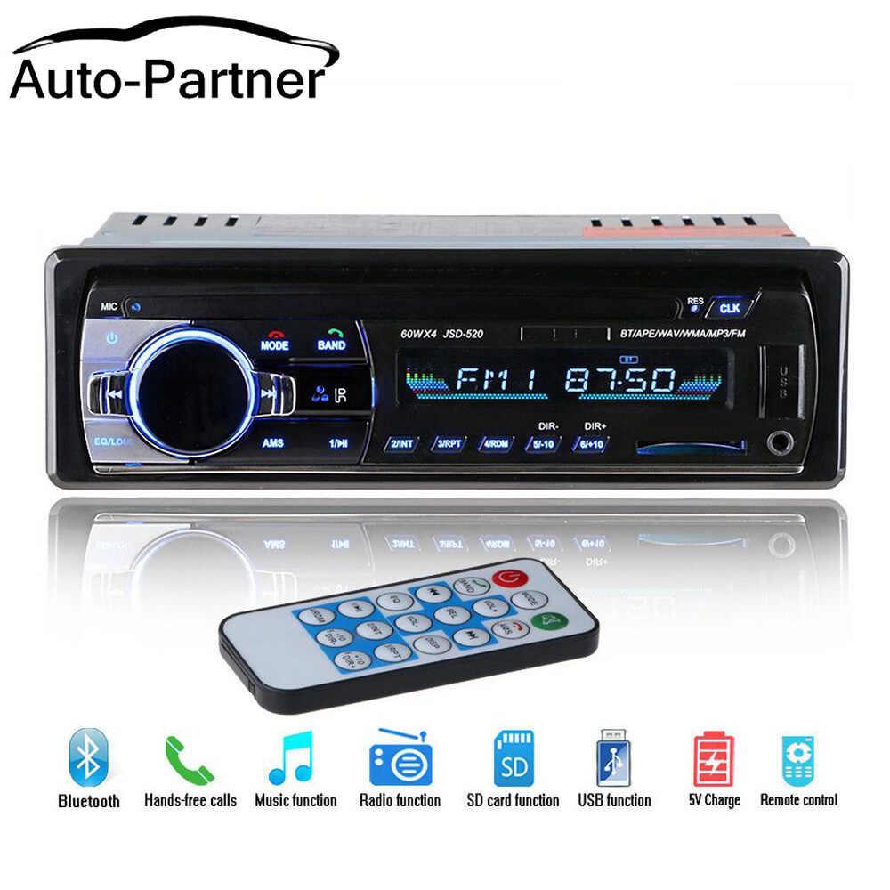 Newest 12V Car Radio Stereo Auto Audio Player Bluetooth Phone AUX-IN MP3 FM  USB 1 Din Remote Control auto radio 12Pin / ISO