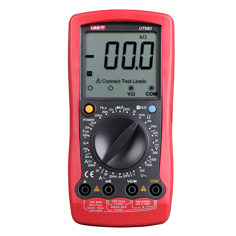 все цены на UT58D Digital Multimeter Ammeter Ohm Volt Meter Capacitance Inductance Digital Universal Meter LCD Count 1999 AVO MeterUNI-T онлайн