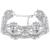 Colar de mulheres de luxo brilhante rhinestone choker colares declaração flor colar partido jóias de ouro de cristal curto clavícula