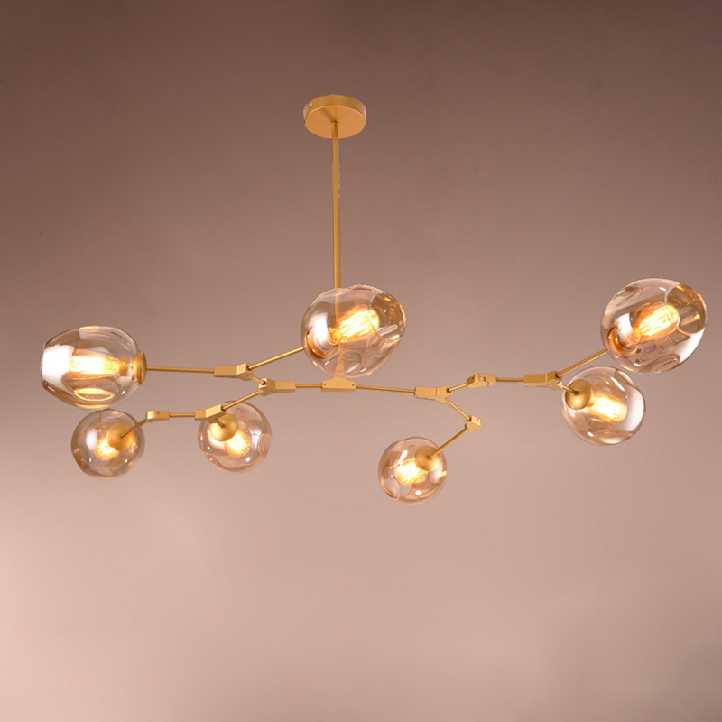 Metal Body Glass Lampshade Pendant Lights For Dining Room Hotel E27 Holder Pendant Lamp Bubble Design lighting fixturs