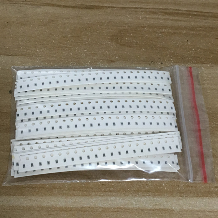 20Value * 20PCS =400PCS 0805 SMD Resistor Kit 1% 1/8W (10 Ohm~1M Ohm) Component Diy Samples Kit  Free Shipping