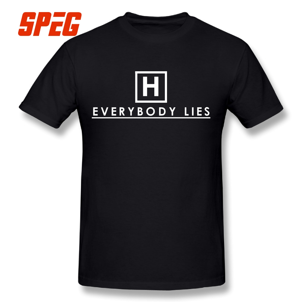 572b728c623 Detail Feedback Questions about Funny Geek T Shirts Everybody Lies Dr House  T Shirt Tee Shirts Man Slim Fit Short Sleeve Tshirt Discount Men s Casual  4XL ...