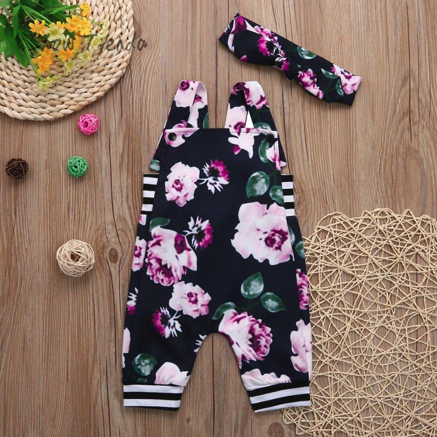 baby halloween costume Floral Stripe jumpsuit baby Romper Trousers baby overall sliders for girls baby onesie newborn headband ...