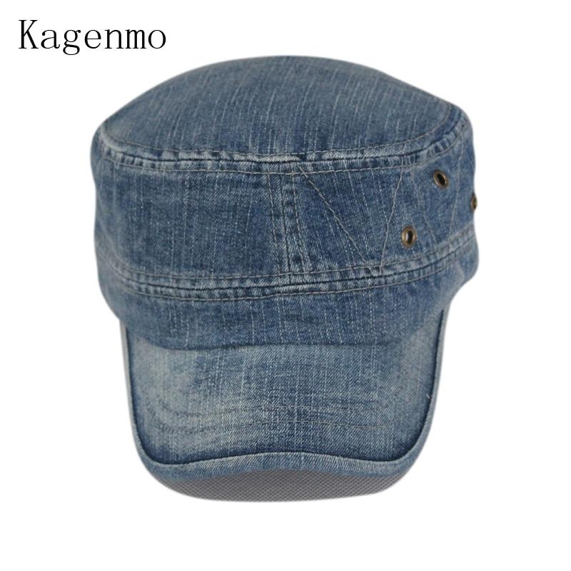 Kagenmo Fashion mosás öregkori farmer hadsereg kalap szabadidős - Ruházati kiegészítők - Fénykép 3
