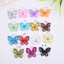 Nylon Butterfly decoration Wedding Decorations butterflies Home Decor Birthday Party baby shower Charming 10pcs/lot 15 colors