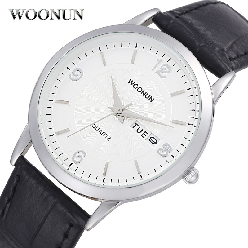Hodinky 2018 Modern Watch Mens Watches Top Brand Luxury Date Day Quartz Watches Ultra Thin Men Watches Leather reloj de hombre