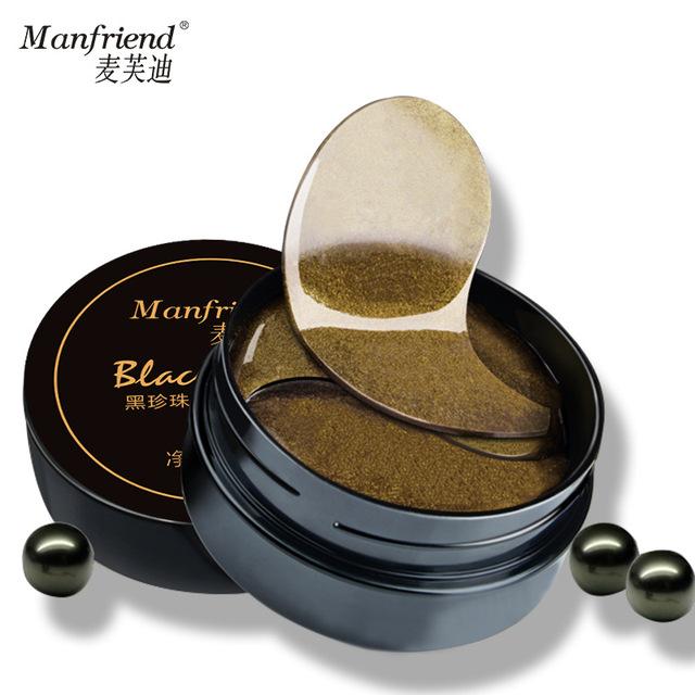 Hidratante firmador olho pérola negra máscara de clareamento Anti rugas Anti envelhecimento anti-papos círculo escuro beleza olhos cuidados com a pele