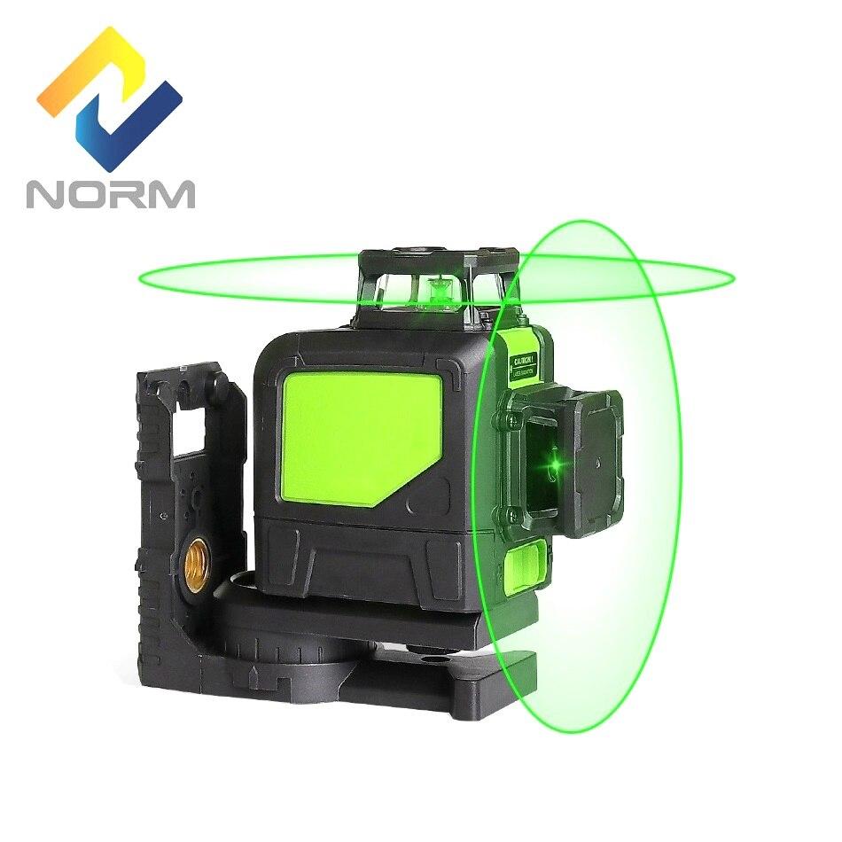 Norme Portable 8 Lignes niveau laser Rouge Faisceau ou Vert Faisceau Laser Auto-Nivellement Laser avec support magnétique