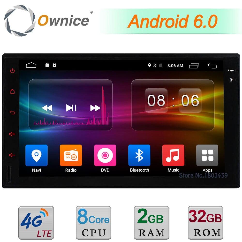 Ownice C500 Octa 8 core Android 6.0 2 г Оперативная память 32 ГБ Встроенная память BT Поддержка 4 г LTE SIM сети автомобиль GPS 2DIN универсальный автомобильный Радио...