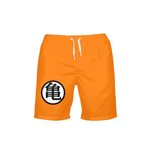 VEEVAN Men Board Shorts Anime Cartoon Dragon Ball 3D Printing Beach Shorts Breathable