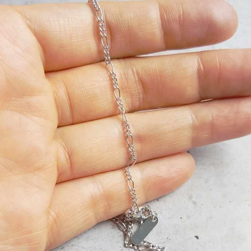 35 cm-90 centímetros Figaro Cadeia Cor de Ouro Branco Fino Curto Gargantilha Colares Para Mulheres Meninas Meninos Crianças Bebê crianças Jóias Mens Kolye
