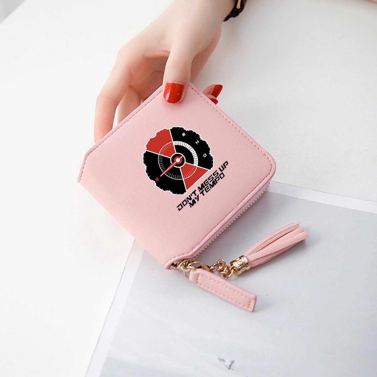 Nuevos accesorios de Kpop, billeteras lindas y cortas con cremallera, billetera y monederos para mujer, minibolsos, fundas elegantes, triangulación de envíos