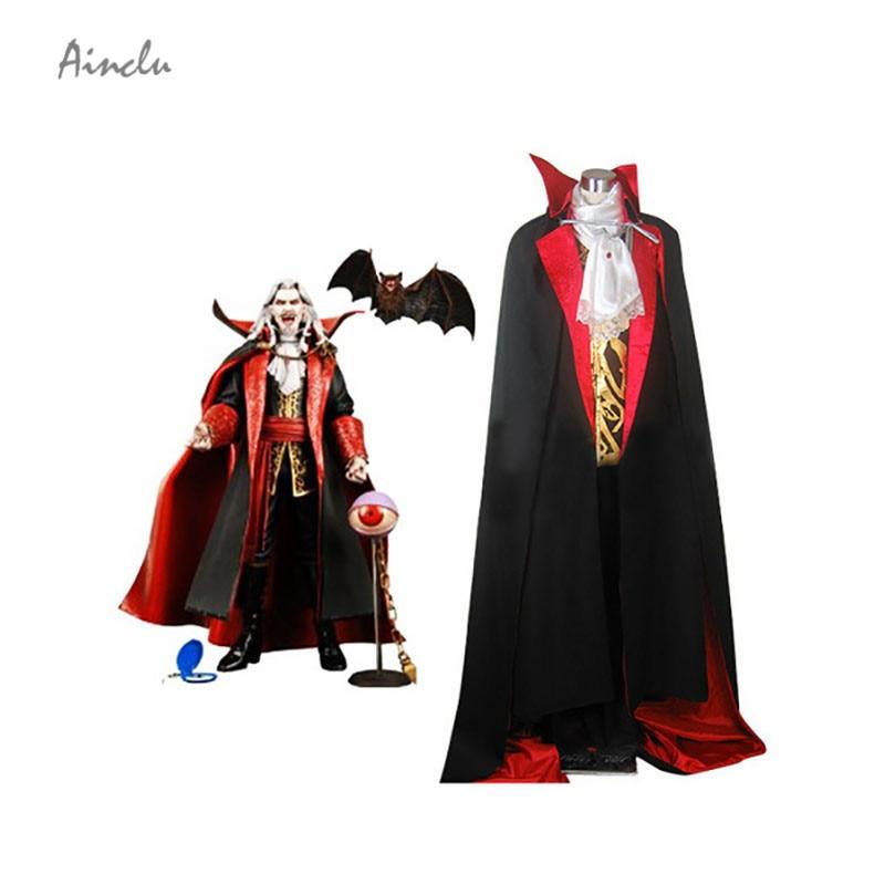 Ainclu Top Selling Cosplay Castlevania Vampire Dracula Halloween Cosplay Costume Vampire Costume Adult Costumes Kid Costumes