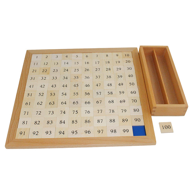 Montessori bébé jouets mathématiques apprentissage éducation jouets cent conseil mathématiques 1 à 100 numéros consécutifs avec tableau de contrôle - 5