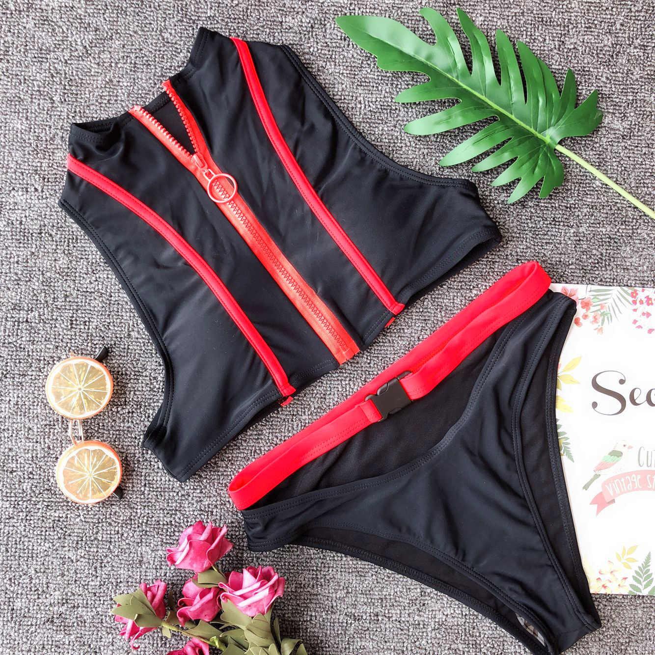 Женский купальник на молнии, купальник 2020, из кусков, с пряжкой, бикини, низ, купальник, женский купальник, бикини, Бразильская пляжная одежда