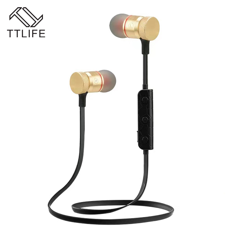 TTLIFE Wireless Bluetooth Earphone M90 Portable Sweatproof Sport Stereo Magnetic Headphone With HD Mic For Android Phone Xiaomi remax rb s7 headphone magnetic neckband bluetooth v4 1 wireless hd stereo sports earphone music headphone with mic multi connect