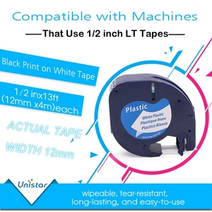 Image 3 - Unistar 7 Pack 91201 Compatible for Dymo Letratag Tape 12mm 91330 16952 91331 91332 Mixed Color Tape for Dymo LetraTag lt 100h