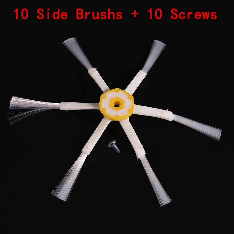 20PCS/lot 6-armed Side Brush & Screws For iRobot Roomba 500 600 700 780 560 Series Vacuum Cleaner parts robots 6 Arms Side Brush 6 pieces 3pcs brush 3pcs screw replacement 3 armed side brush with screw for irobot roomba 500 600 700 vacuum cleaners parts