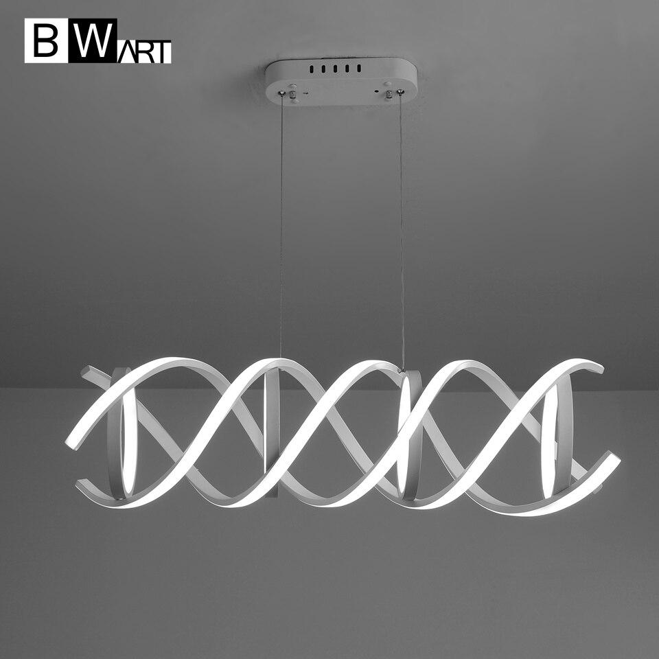 BWART Modern chandelier led lighting Remote pendant loft chandelier lamp fixture for living room bedroom Dining Room Office