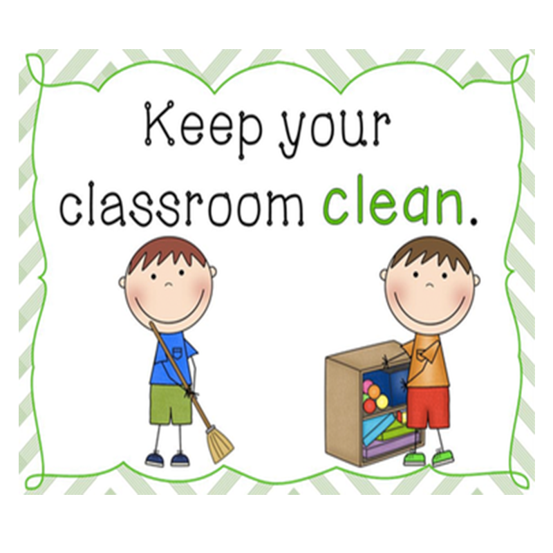10Pcs/Set Classroom Rules Learn English Flash Cards Wall