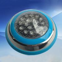 2 pces 18w conduziu a luz das piscinas multi-cor 12 v rgb controle remoto luzes subaquáticas impermeáveis da iluminação exterior para a lâmpada
