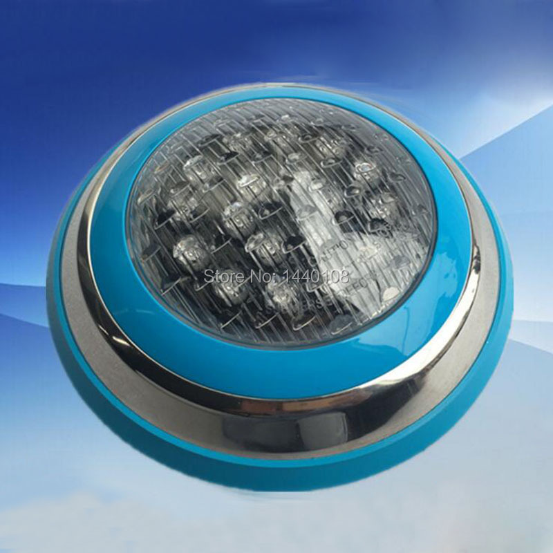 2pcs/lot 18w  led round swimming spot lamp Stainless RGB  Ac12V/24v LED Underwater Landscape Lamp Swimming Pool Wall Lamp