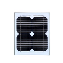 solar panel china 18v 10w charger battery 12v panneau solaire monocrystalline placa best selling high quality