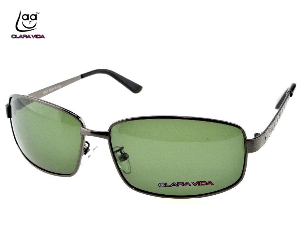 =CLARA VIDA= Custom Made Nearsighted Minus Prescription Black Frame Green Lens Double Beam Polarized 1 1.5 2 2.5 3 To 6