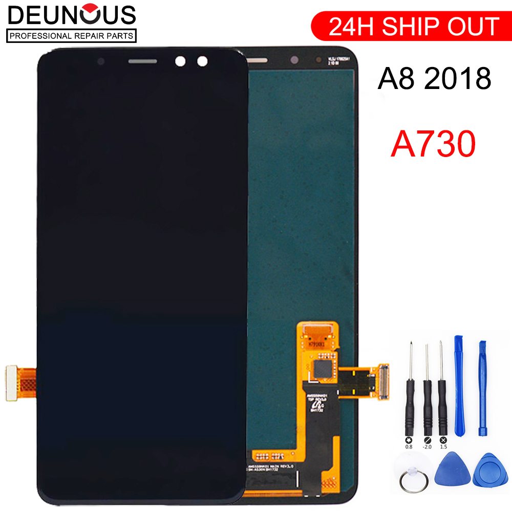 "Cep telefonları ve Telekomünikasyon Ürünleri'ten Cep Telefonu LCD'leri'de 6 ""Samsung Galaxy A8 Artı 2018 A730 lcd ekran dokunmatik ekran digitizer A730F A730F/DS A730x Samsung A8 + artı 2018 lcd title="