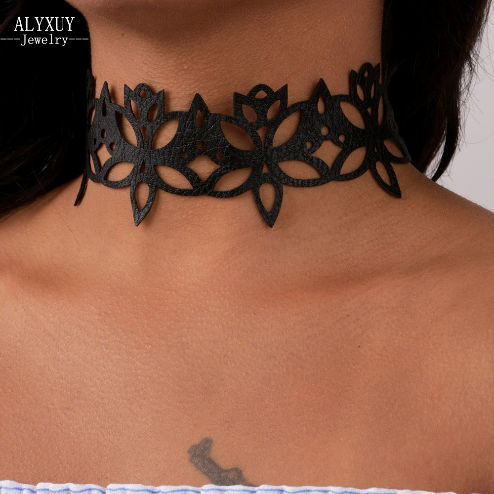 Fashion jewelry fashion cool cloth Lace Tattoo choker necklace Valentines Day present lovgift for women girl N2005