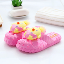 Kids Shoes Sandals Girls Cute Chick Design Children Slippers PVC Boys Shoes Sandalen Hot Pink Blue Breathable for Bathroom
