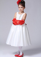 Baby Girl Dress Frock Red Princess Little Girl Dress Summer Party Children Clothing New Designer Vestidos