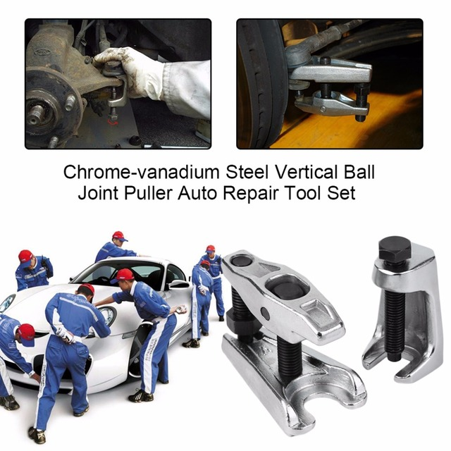 US $21 29 20% OFF|2Pcs/Set Chrome vanadium Steel Heat Treated Silver  Vertical Ball Joint Puller Removal Seperator Auto Repair Tool Set-in Ball  Head