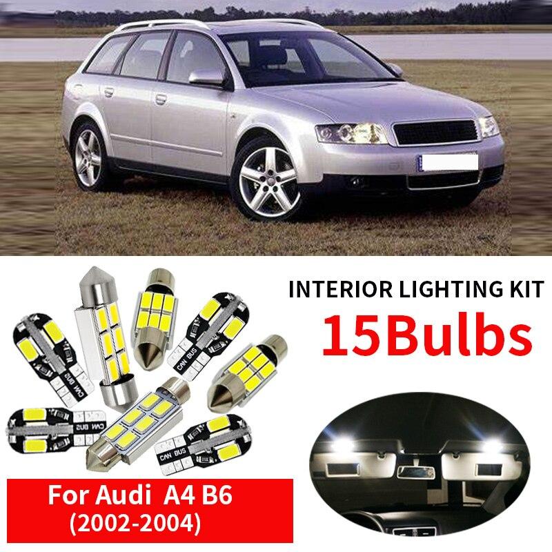 4E 20pcs white Premium LED interior light kit for 2002 to 2009 Audi A8