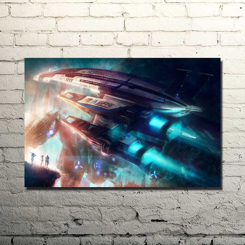 Mass Effect 2 3 4 Hot Shooting Action Game Art Silk Poster Print 13x20 24x36 Wall Pictures For Bedroom (click to see more)-1(China)