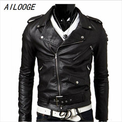 Spring autumn 2016 new brand male faux leather jacket man motorcycle bomber biker mens leather jackets.jpg 250x250