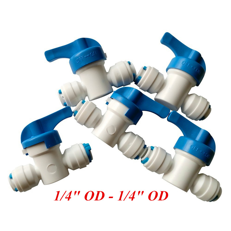 Water Filter Parts 1/4 Quick Connect Ball Valve For Tube Quick Connect Switch Water Purifier RO Reverse Osmosis System water dispenser parts 8l connect storage water bottle with float ball connect with 1 4 ro water purifier system