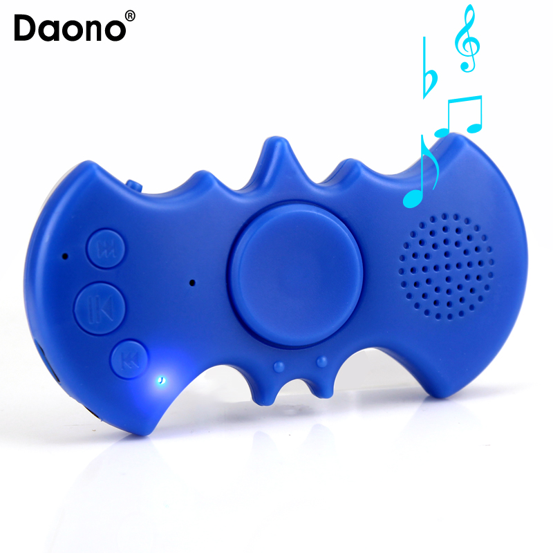 2017 NEW MP3 Player LED MP3 Music Player Single Hand Decompression Focus Gyro With Speaker Anti-Stress Toys Support Micro SD TF