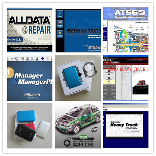 все цены на  alldata and mitchell software all data 10.53 +elsawin +vivid workshop data+moto heavy truck auto repair software 49in1 hdd 1th  в интернете