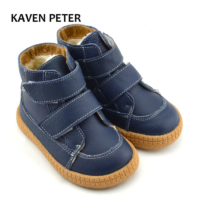 Ankle boots 2018 children snow boots newest kids winter boots cow leather gym shoes girls plush shoes boys blue shoes size 27-33 babyfeet 2017 winter fashion warm plush high top genuine cow leather children ankle girls snow boots kids boys shoes sneakers