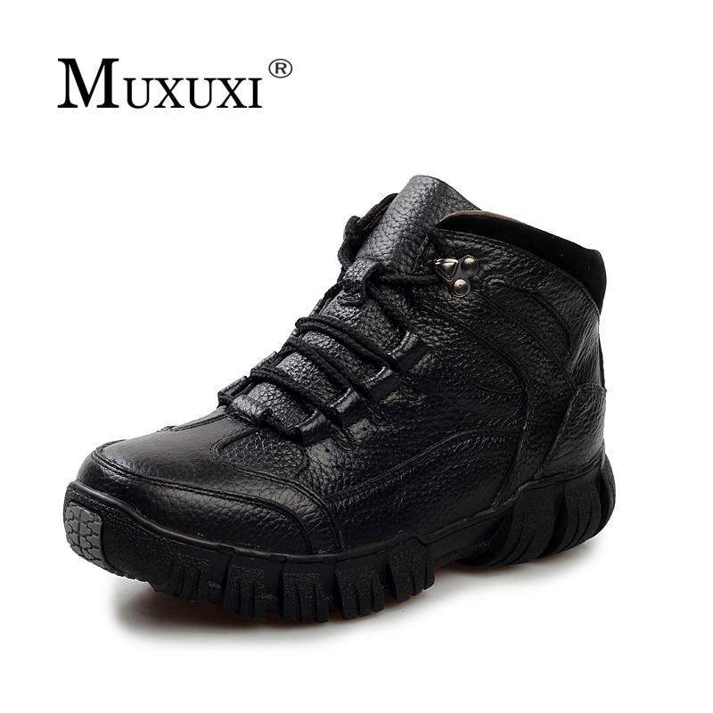 Размеры 38–46 зимние из натуральной кожи Для мужчин качество Ботильоны Для мужчин S Water Proof работы Обувь Мужская обувь теплые зимние Pursh Сапоги и ботинки для девочек