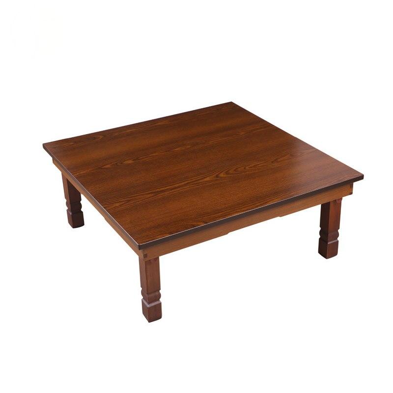 Asiatique Antique Coréen Table Pliable Jambes Carré 60*60 cm Salon Meubles Étage Table Dîner Traditionnel Bois Café Table