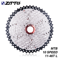 ZTTO Bicycle Cassette 11 46T 10 Speed 10s 46t Wide Ratio MTB Mountain Bike Freewheel For