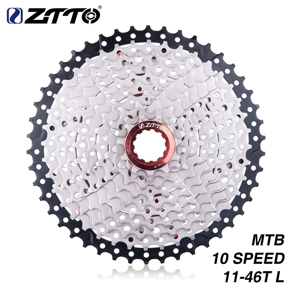 ZTTO Bicicletta Cassette 11-46 T 10 Velocità 10 s 46 t Ampio Rapporto MTB Mountain Bike Ruota Libera per le Parti m590 m610 m6000 m780 X7 X9
