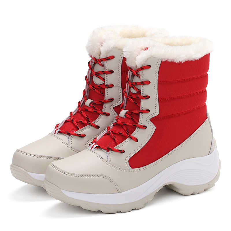 32495a2e954 ... Winter Boots Women Waterproof Winter Snow Boots Female Warm Fur Non-slip  Shoes Women Winter