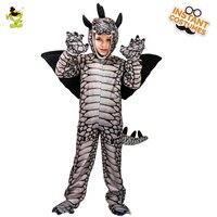 Kid Boy's Stegosaurus Costume Role Play Mascot Costume Cartoon Dragon Clothes Jurassic World Movie Lovely Stegosaurus Jumpsuit