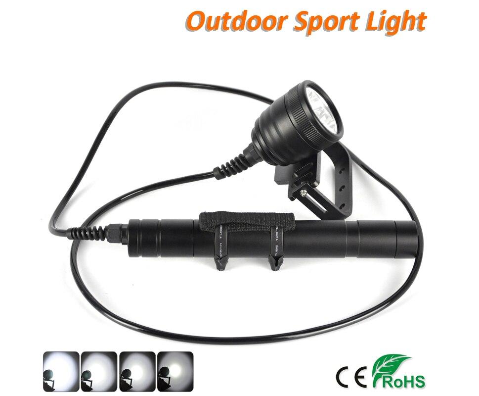 Image 5 - BORUIT LED Xml U2 Professional Scuba Flashlight Diving Torch div10 Underwater Lamp Light Lantern Diving Equipment Accessories-in LED Flashlights from Lights & Lighting