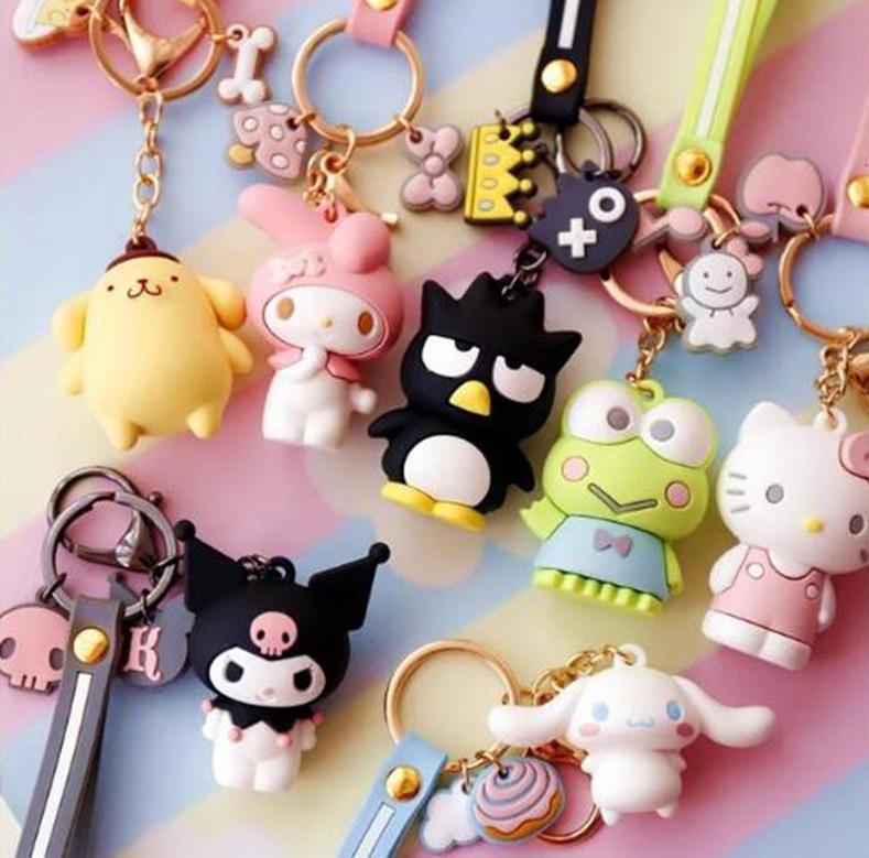 Japan Sanrio Hello Kitty Cinnamoroll My Melody Mini Photo Frame Charm Keychain