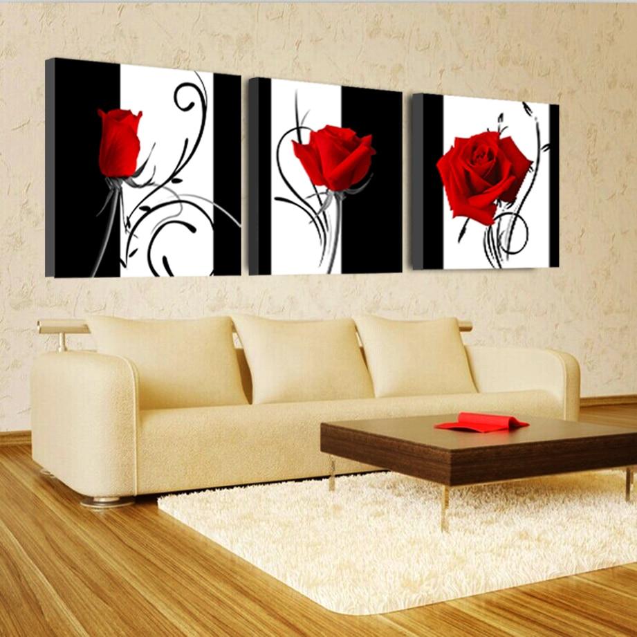 Fancy Red Canvas Wall Art Pattern - All About Wallart - adelgazare.info