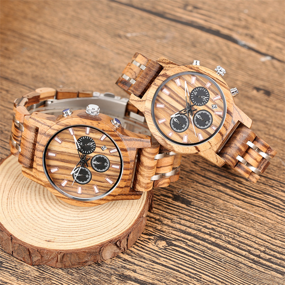 Lover's Watch Men Wooden Watch Women Quartz Calendar Display Couple Wristwatches Top Brand Luxury Ladies Clock Reloj Mujer Saati